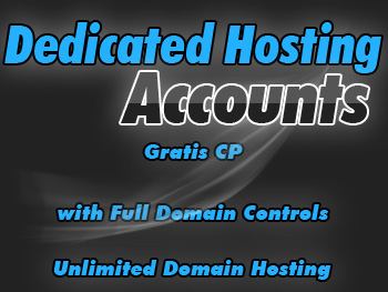 Economical dedicated hosting account